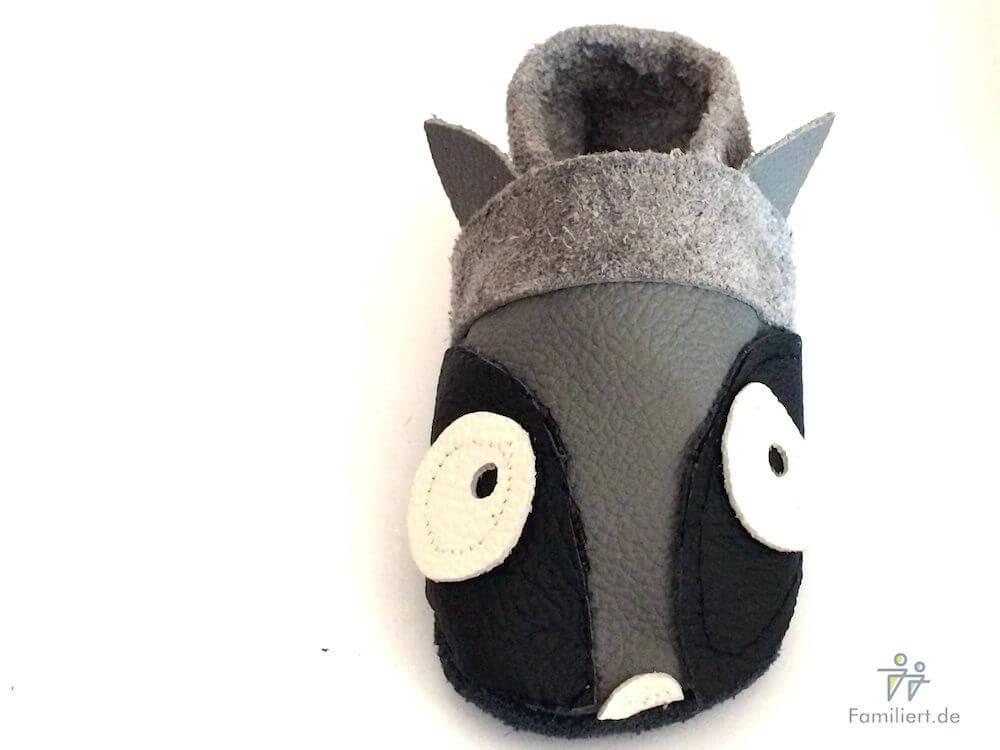 Waschbär Lederpuschen | familiert.de