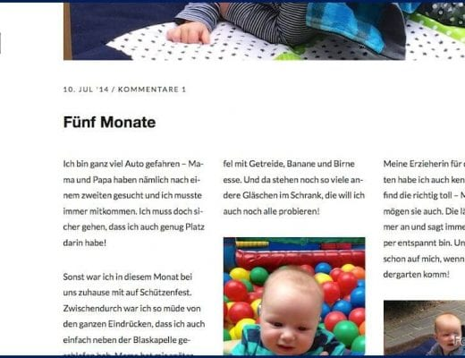 Screenshot vom Blog   familiert.de