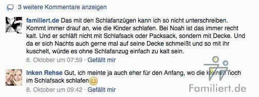 Kommentare von Facebook im Blog integrieren | familiert.de