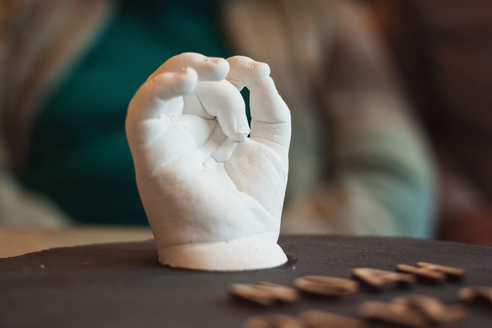 Patengeschenk 3D Handabdruck