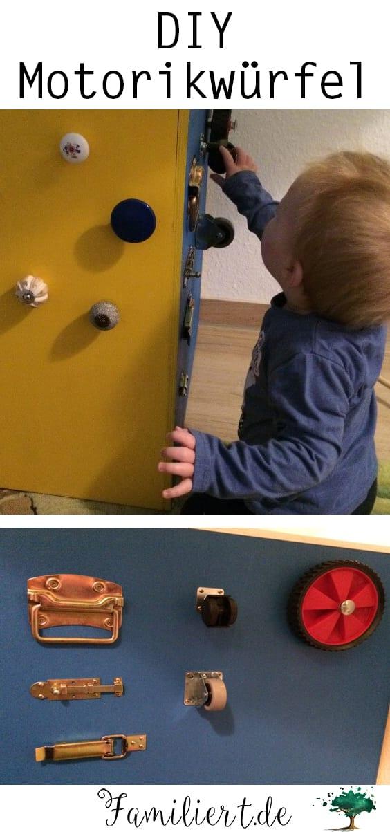 Motorikwürfel für Kleinkinder und Kinder selbst bauen