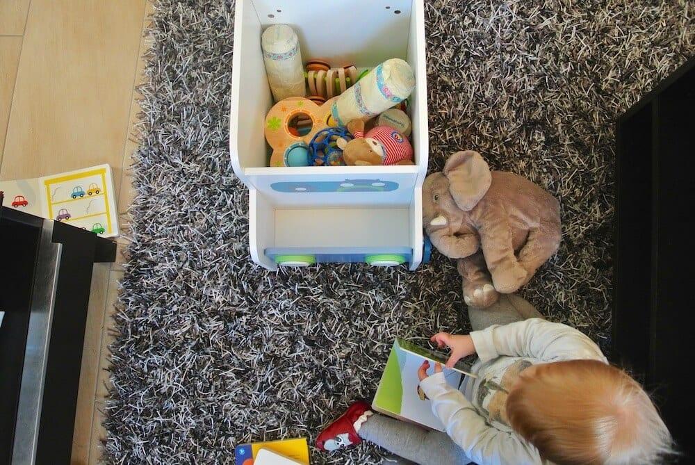 Rollende Spielzeugkiste