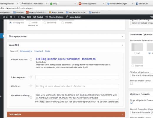 Hinter den Kulissen - Backend von Wordpress | familiert.de