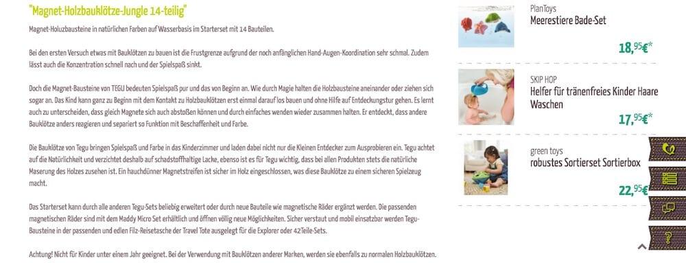 Produktbeschreibung Greenstories | familiert.de