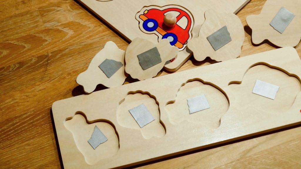 Holzpuzzle - Puzzleteile nicht mehr verlieren Hack