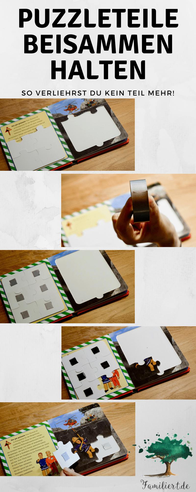 Keine Puzzleteile verlieren | Puzzleaufbewahrung | Hack | Familiert.de