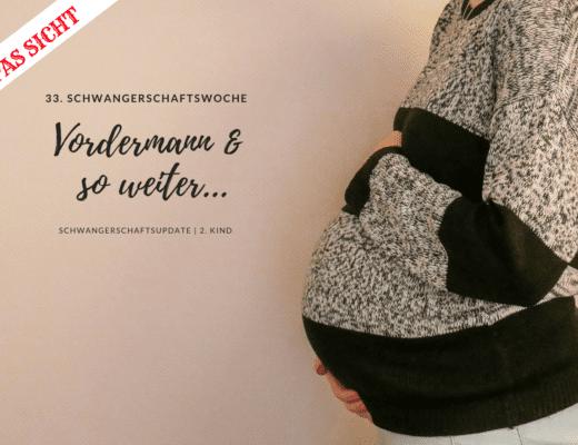 Schwangerschaftsbauch in der 33. Schwangerschaftswoche | familiert.de